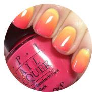El efecto degradé llega a las #uñas con 4 #topcoats De OPI de colores