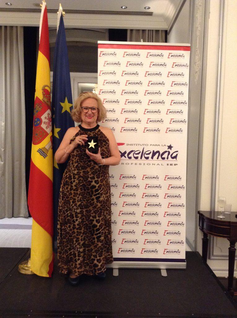 Carmen Cazcarra. Premio Estrella de Oro. Hotel Westin. Madrid.