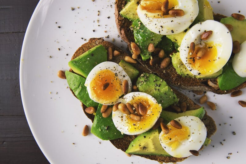 Canva Healthy Food Snack of Eggs and Avocado on Toasted Bread 1
