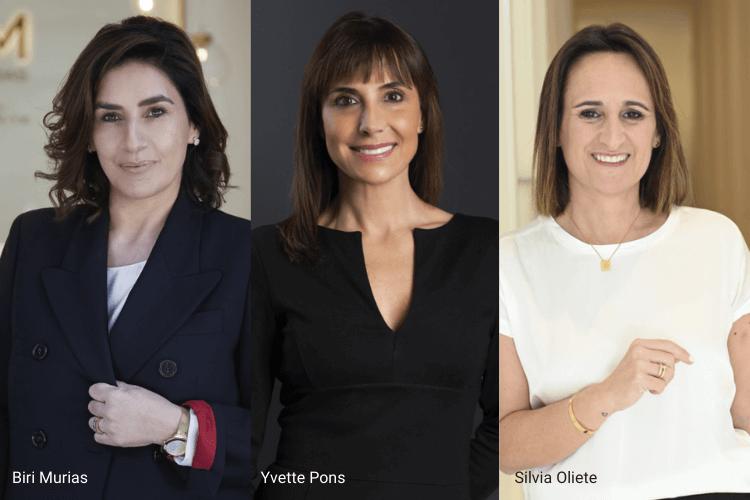 Biri Murias, Yvette Pons y Silvia Oliete