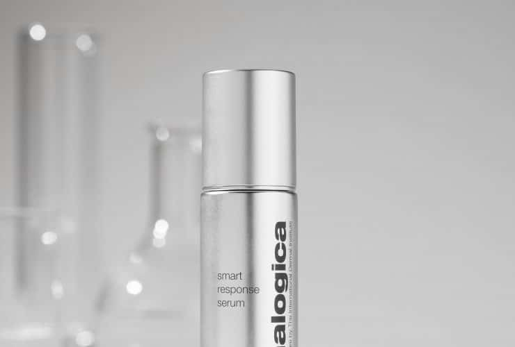 Straight Product with Lab Glasses Behind 1x1 Smart Response Serum