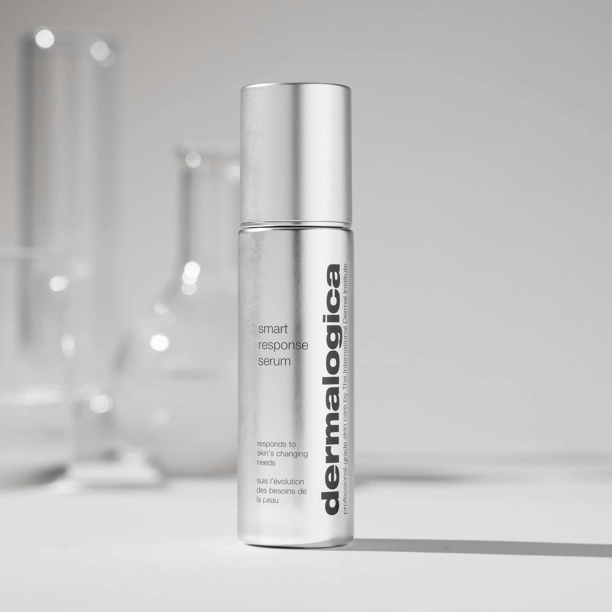 Straight Product with Lab Glasses Behind 1x1 Smart Response Serum scaled